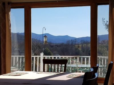 Clear beautiful Blue Ridge Mountain view from dining room. 2-13-17