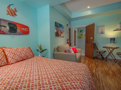 Photo for NEW LOW RATES! POOL! 75 STEPS TO OCEAN, POOLSIDE, KITCHENETTE,QUEEN,HUGE SHOWER