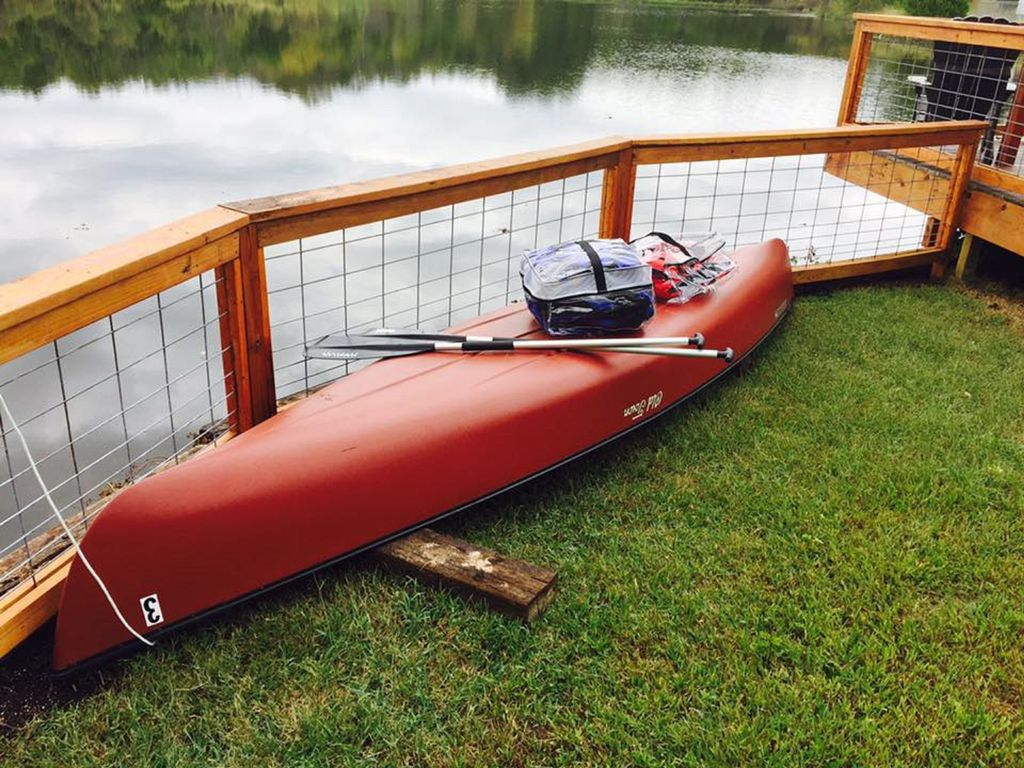 THIS CANOE AND LIFE JACKETS ARE INCLUDED - PLEASE BE SAFE