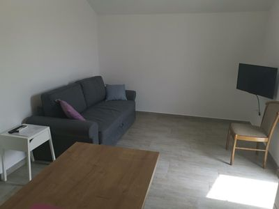 Photo for One bedroom apartment with balcony and sea view Lokva Rogoznica, Omiš (A-18328-c)