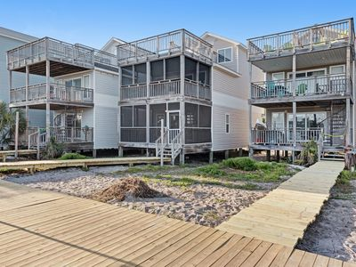 Photo for Beachfront home with screened porch with boardwalk access to a shared pool!