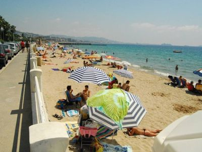 Photo for CANNES BEAU 2 rooms FACE SEA AND BEACHES 5pers PRK AND WIFI