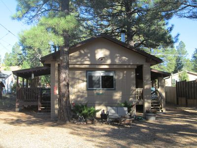 Photo for Cozy 3 bdrm cabin in the pines of Munds Park, newly remodeled, new deck,sleeps 9