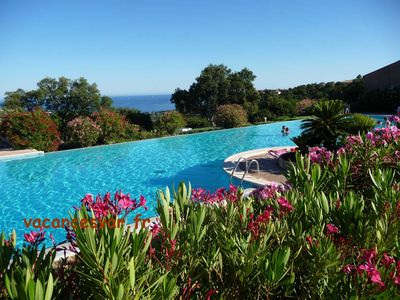 Photo for apartment/ flat in Les Issambres 2 to 4 person in quiet area, 2 Pools, Tennis and wunderfull seaview