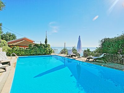 Photo for Villa Nafsika: Spacious villa with large private pool and fantastic views over the sea