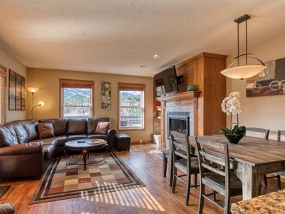 Photo for Mountain condo with private hot tub & gourmet kitchen - short walk to lifts!
