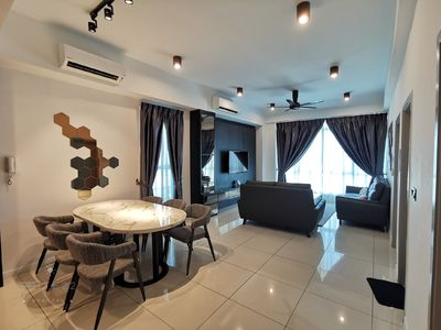 Photo for LUXURY & SPACIOUS SUITE / 8Pax / KK City Area / Opposite IMAGO / Infinity Pool