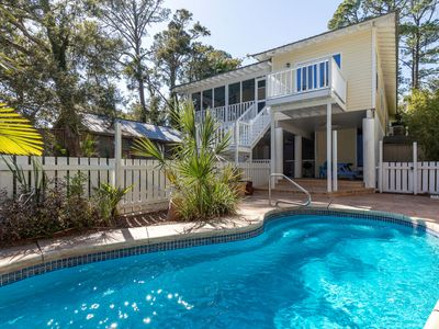 Quiet and Peaceful! Marsh View home on tidal creek with Private Pool and Screened Porch