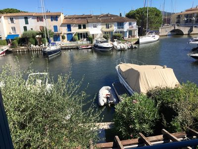 Photo for Three bed, three bathroom house with berth in Port Grimaud Sud