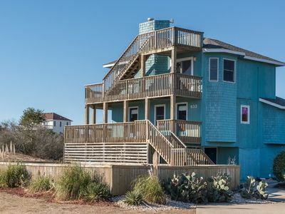 Photo for Whale Tale: 4 Bedroom Oceanside with Private Pool, Hot Tub and Volleyball Court