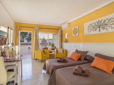 """Photo for Charming Holiday Apartment """"Casa Maria -Carihuela Park Palace-"""" with Wi-Fi, Pool, Balcony & Garden; Parking Available"""