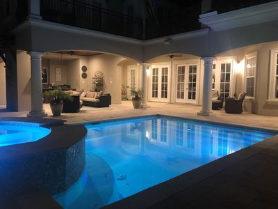 Photo for Stunning home in the middle of it all, with private pool & FREE Golf Cart!