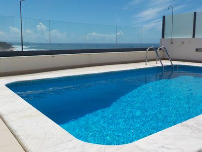 "Private outdoor swimming pool with seaview ""Casas da Arriba N5"""