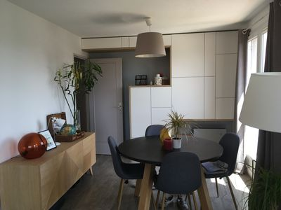 Photo for Beautiful T3, top floor, 10 min walk from the sea!