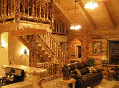The Great Room, and up into loft areas