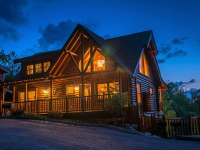 Photo for LUXURIOUS 5/4 CABIN WITH THEATER, GREAT MOUNTAIN VIEWS & FANTASTIC LOCATION!