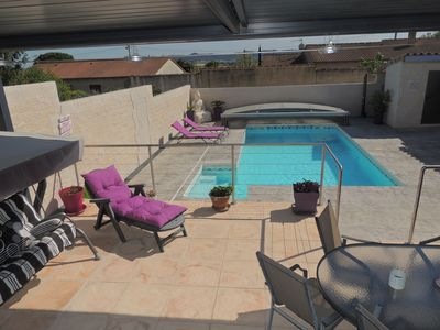 Photo for VILLAGE DU GARD, AIR-CONDITIONED VILLA WITH COVERED POOL, HEATED WITH SAUNA