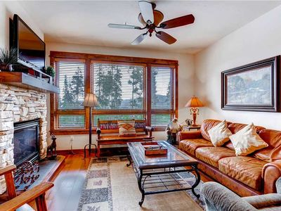 Photo for Bright condo w/ views of mountains and town, outdoor pool