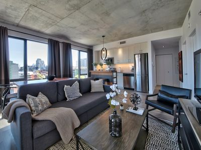Photo for Fabulous Old Montreal 2 Bdrm Condo with Views + Balcony + Rooftop Spa+ + Parking