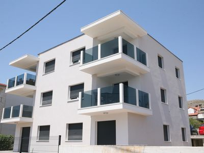 Photo for New Luxury two bedroom apartment close to Trogir town centre with sea view