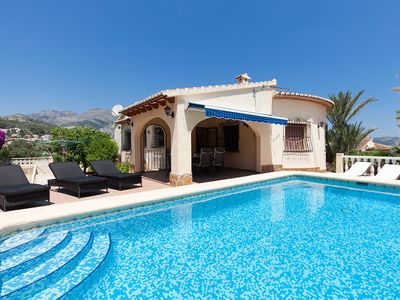 Photo for This 3-bedroom villa for up to 6 guests is located in Denia and has a private swimming pool and Wi-F