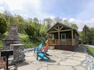 Photo for Tiny House Big Adventures! 399 sq. ft house in Boone. Pet friendly, perfect couples getaway!