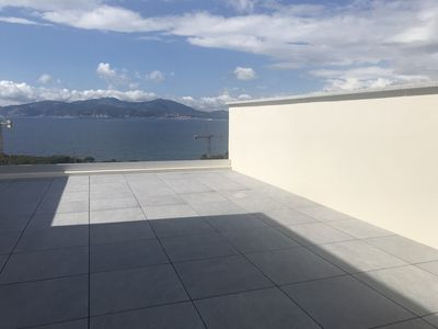 Photo for APARTMENT PANORAMIC VIEW ON THE GULF OF AJACCIO AND THE BLOODY ISLANDS