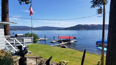 Photo for Couer D'Alene Lake Front Cabin with boat slip (directly across from Harrison)!