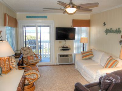 Photo for Beautifully furnished condo with fantastic views of the Apache Pier