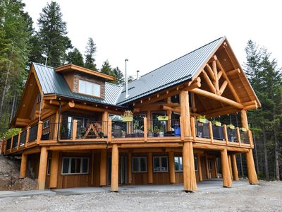 Photo for Golden Acres Mountain Lodge.   Luxury in the wilderness. Custom built log home.