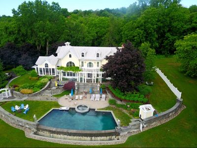 Photo for Private Gated Estate On Hudson River With Infinity Pool And Spa 2 Hours From NYC