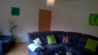 Photo for Beautiful apartment in a holiday home next to the forest and the volcanic lakes (Maare)
