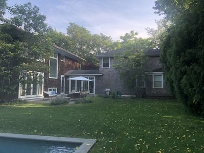 Photo for Bright East Hampton 6 bedroom 4200 sq.ft home with pool walking distance to town