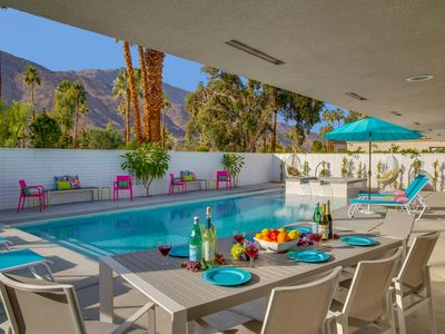 Photo for Pretty in Pink at the Indian Canyons - Stunning Executive Home! Great Reviews