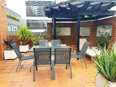 Photo for LUXURY TOWNHOUSE car park & large courtyard in Heart of Sydney