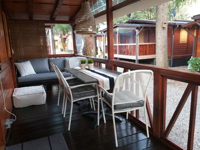 Photo for For rent 2 fantastic chalets + air conditioning, right on the beautiful Lake Lugano.
