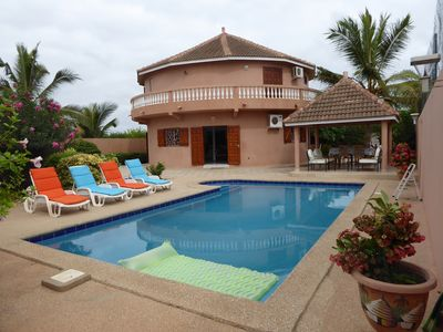 Photo for WARANG VILLA 8 P WITH SWIMMING POOL 12 KM SALLY CLOSE SEA BETWEEN MBOUR AND NIANING WIFI