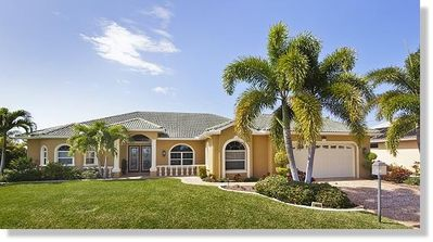 Photo for The peaceful Villa Stanford with pool is located on Rose Lake in Cape Coral, Florida