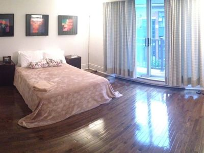 Photo for Toronto Central Downtown Single Queen Bedroom with Balcony in Shared Condo Townhome.