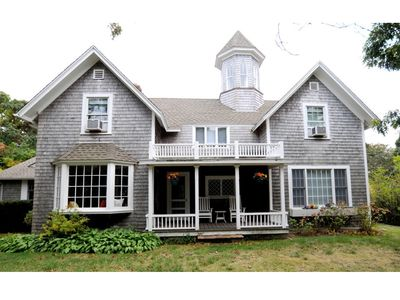 Photo for CENTRAL AIR! Quiet East Chop Retreat Walk 2 Town and Beach. 3rd house from Bluff