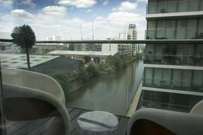 Waterside Balcony. Chairs from Big Brother TV show