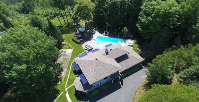 Photo for 6,000 sq.ft Mountain Top Estate on 5 acres, sleeps 12, huge pool & Jacuzzi...
