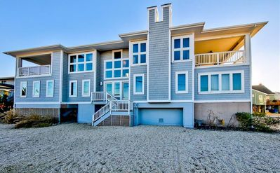 Photo for Big Beach House with Beautiful Water Views Steps from the Ocean and the Bay