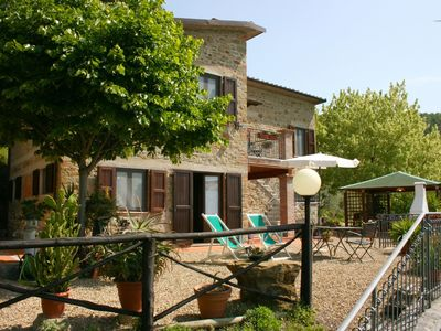 Photo for Wonderful private villa with WIFI, private pool, TV, pets allowed and parking, close to Arezzo