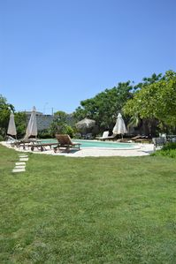 Photo for Ancient castle a few minutes from the sea, large garden with swimming pool