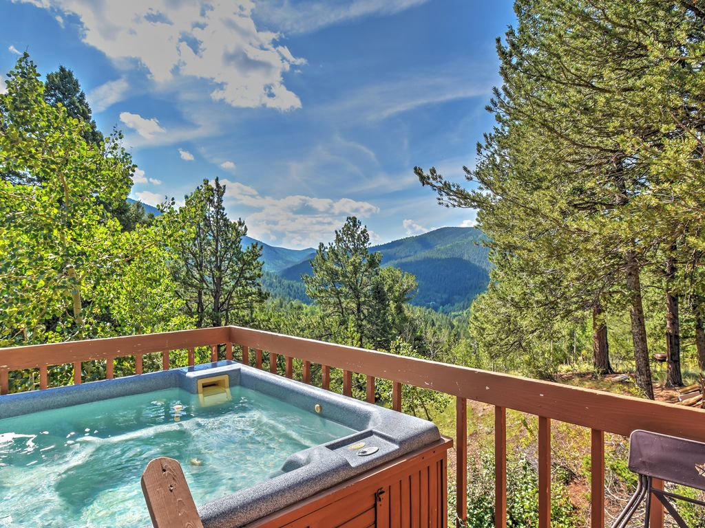 near in colorado cripple private pine tubs springs peak tub secluded with pikes for cabins hot rustic rent and creek