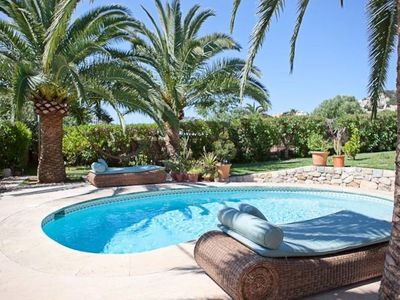Photo for Rustic style finca with beautiful garden -  2 minutes walk from the port