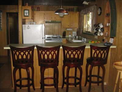 Kitchen is open to Living Room and Dining area - additional seating at counter.