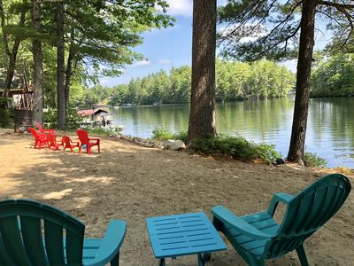 Photo for Waterfront camp on beautiful Great East Lake for rent in first basin