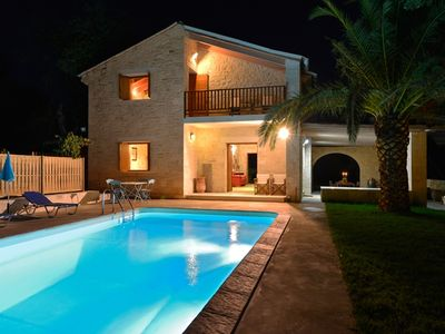 Photo for A Stone Villa With Wonderful Sea View, Just 250m Away From The Sandy Beach